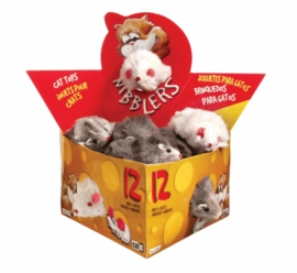 (C1322) Catit Deluxe Fur Mouse, Large (12/Box)