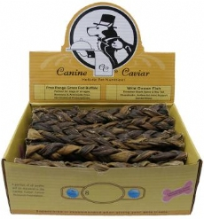 Canine Caviar Treat Buffalo Braid 12 inch 30 Count