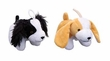 Cuddler Plush Dog Toy - Small Dogs Beige or White Black and White