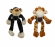 Cuddler Plush Dog Toy - Tennis-Ball Critter Monkey or Giraffe