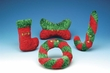 Curly Candy Cane - 10 Inch Velvet Plush Toy