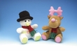 Curly Glow-Pals Snowman Plush Toy