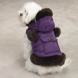 Dog Smart Brown Quilted Jacket 16 inch