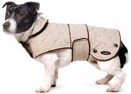 Dog Smart M Brown Quilted Jacket 14 inch