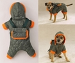 Dog Smart Olive Jacket Ecru Piping 16 inch