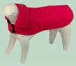 Dog Smart XXL Red Jacket Ecru Piping 26 inch