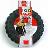 Dogit Jawz Rubber Paw Print Tire, Black, Large