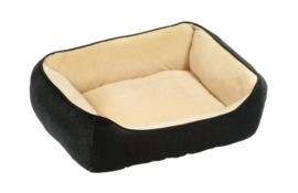 Dogit Rectangular Reversible Cuddle Bed - Royal Plush Black, Small