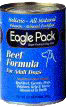 Eagle Pack Holistic Natural Beef with Oat Bran Formula Canned Dog Food Case of 12 / 13 oz. EZ Open Top Cans