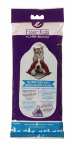 Essentials Allergy Relief Wipes for dogs and cats, 8-pack
