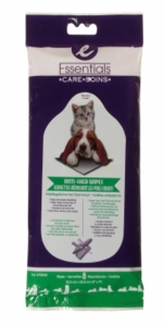 Essentials Anti-Shed Wipes for dogs and cats, 8-pack