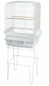 """Exotic"" Parakeet/Canary Cage, White Epoxy Painted"