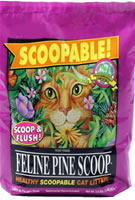 Feline Pine Scoopable Cat Litter 3.8 Lb Bag