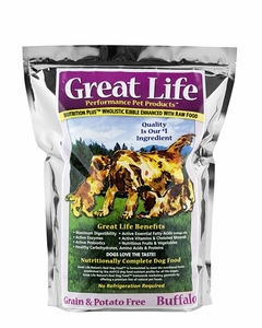 Great Life Buffalo Grain-Potato Free Dog Food 25 Lbs