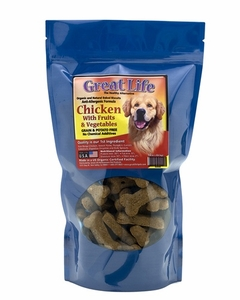 Great Life Chicken with Fruit and Veggies Biscuits for Dogs 1 lb