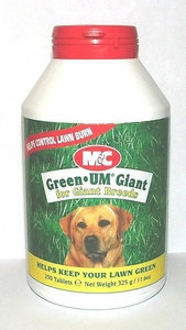 Green Um 250 Tablet Bottle for Giant Breeds