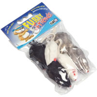 Hagen Catit 2 inch Furry Mouse 6 Pack