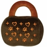 Hagen Dogit Luvz Dog Toys Brown Bag with Hearts