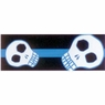 Hagen Dogit Style Nylon Leash with Comfort Handle - Electric Skulls Blue on Black Nylon Medium 5 / 8 inch X 6 feet