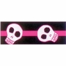 Hagen Dogit Style Nylon Leash with Comfort Handle - Electric Skulls Pink on Black Nylon Large 3.4 inch X 6 feet