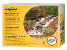 Hagen Laguna Stream Waterfall System, Grey Fieldstone