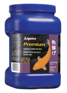 Hagen Pond Laguna Koi & Goldfish Floating Food Sticks, Color Enhancing, 11 oz.