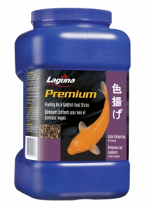 Hagen Pond Laguna Koi & Goldfish Floating Food Sticks, Color Enhancing, 22 oz.