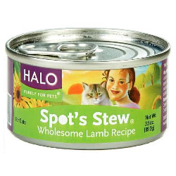 Halo Spots Stew For Cats Wholesome Lamb Recipe Canned Cat Food 12 - 3 oz Cans