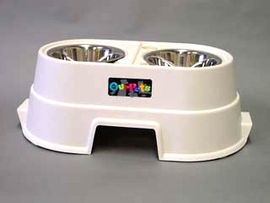 "Healthy Pet Diner Elevated Dog Bowl Set 12"" Tall"