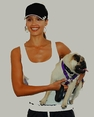 "Jessica Alba and Pug ""Sid"" of Sid & Nancy"""
