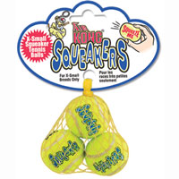 Kong Air Kong� Squeaker Tennis Balls X-Small 3pk
