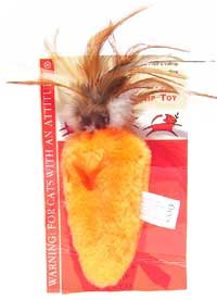 Kong® Cats With An Attitude® Feather Topped Carrot