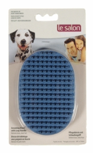 Le Salon Rubber Handy Groomer Brush w/ Loop Handle