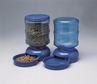 LeBistro Combo Feeder and Waterer Set Medium in Planet Blue by Petmate