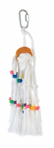 Living World Small Rope Tassel w/ Beads & Wood Cylinder