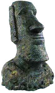 Medium Easter Island Statue by Penn-Plax