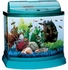 Mini Bow 5 Gallon Bow Front Acrylic Aquarium Kit Teal