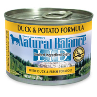 Natural Balance Duck and Potato Formula Canned Dog Food 12 / 6 oz Cans