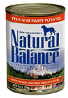 Natural Balance Fish and Sweet Potato Formula Canned Dog Food Case of 24 / 13oz Cans