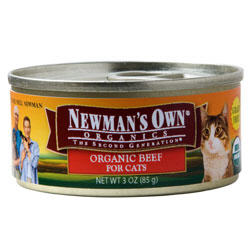 Newman's Own Organics Cat Beef 24 / 3 oz Can