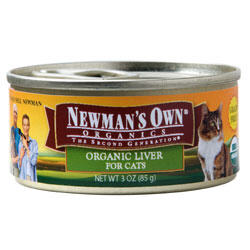 Newman's Own Organics Cat Liver 24 / 3 oz Can