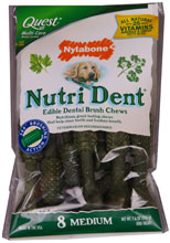 Nutri Dent Brush Bone 8 Pack - Medium