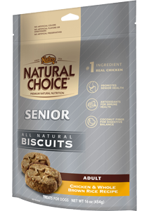 Nutro Natural Choice Chicken & Whole Brown Rice Senior Biscuits 32 oz.