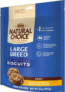 Nutro Natural Choice Large Breed Chicken & Whole Rice Adult Biscuits 32 oz.