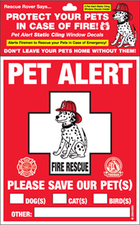 Pet Alert Emergency Rescue Decal (2 pack)