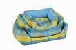 Pet Bed Blue and Green Plaid Sofa Bed Medium 21inch