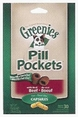 Pill Pockets for Dogs Beef Flavor Capsules 7.9oz Bag