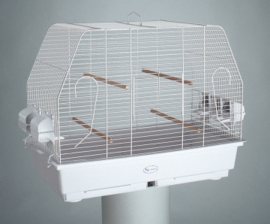 """""""Princess"""" Parakeet/Canary Cage, White Epoxy Painted"""