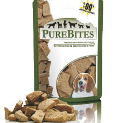 Purebites Beef Liver Freeze-Dried Dog Treats 8.8 oz Bag