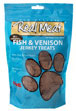 Real Meat Jerky Treats Fish and Venison Formula for Dogs 12 oz Bag